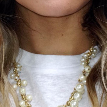 Play On Gold Pearl Necklace