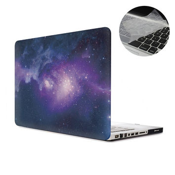 """For Galaxy Hard Case for Apple MacBook Air Pro Retina11""""12""""13""""15"""" inch Starry Sky Mac Laptop Full Cover with Keyboard Skin,Free"""
