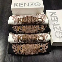 KENZO classic perfect embroidery short sleeve top blouse shirt