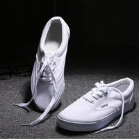 """VANS"" Male Female Classic Fashion All-match Casual Canvas Straps Shoes Single Shoes F"