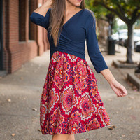 What I Print To Say Dress, Navy