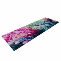 "Malia Shields ""Splash Abstract Ink"" Magenta Green Yoga Mat"