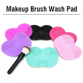 Silicone Brush Cleaner Mat Washing Tools for Cosmetic Make up Eyebrow Brushes Cleaning Pad Scrubber