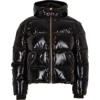 Girls black high shine puffer jacket - Jackets - Coats & Jackets - girls