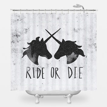 Ride or Die Shower Curtain