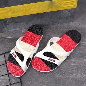 Men Shoes Flip Flops Summer Massage Beach Slippers