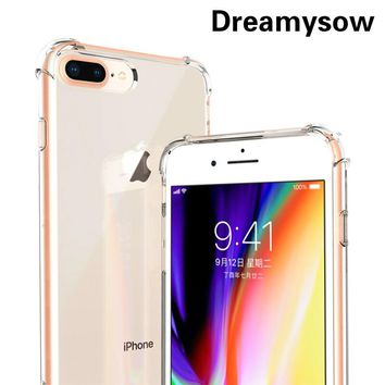 360 Anti-knock Clear Phone Case For iPhone XS Max XR X 10 6 6S 7 8 Plus 5 SE 5S Full Protection Drop Resistant Protective Cover