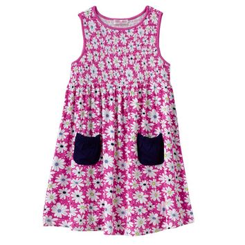 Design 365 Smocked Daisy Dress - Toddler Girl, Size: