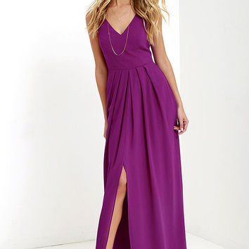 Show of Decorum Magenta Purple Maxi Dress