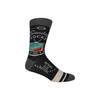 Football Sunday Crew Socks in Gray