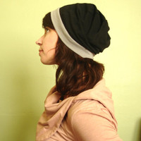 Cotton jersey slouch beanie hat by joclothing on Etsy
