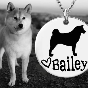 Akita Dog Personalized Jewelry