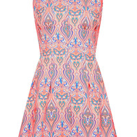 Neon Jaquard Seam Shift Dress - New In This Week - New In - Topshop USA