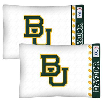 Baylor Bears Pillowcase Set College Bedding Pillow Covers