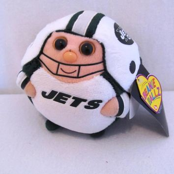 "12cm Ty Beanie Boos Collection Big Eyes 5"" TY NFL Beanie Ballz Plush - New York Jets Stuffed Doll Kids Plush Toys Christmas Gift"