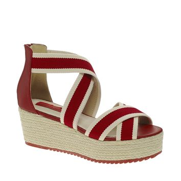 London Rebel Ange Wedge Sandals