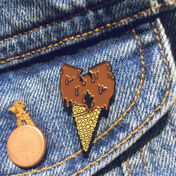 WuTang Ice Cream Soft Enamel Pin **Chocolate Deluxe**