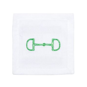 Lime Green Snaffle Cocktail Napkins (Set of 6)