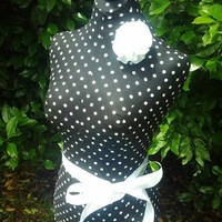 Polka dot Dress form designs w stand. Life size torso boutique display | reminiscejewels - Furnishings on ArtFire
