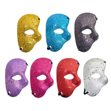 The Phantom Of Opera Mask Plastic Glitter Half Mask for Christmas Halloween Party Decor Supplies Cosplay Accessories 7 Colors