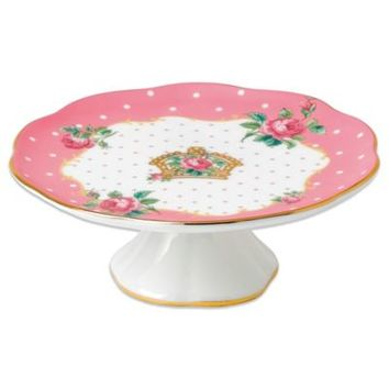 Royal Albert Vintage Small Cake Stand in Cheeky Pink