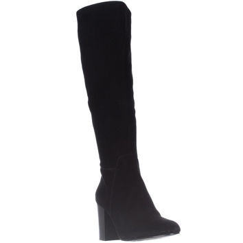 Vince Camuto Sashe Knee High Heeled Boots - Black