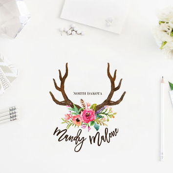 Photography logo - Boho style logo - Premade logo design - Pre-made Logo - Logo template design - Watercolor Logo - Watermark
