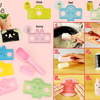 Buy Kawaii Animals Bento Wrap & Roll Kit at Tofu Cute
