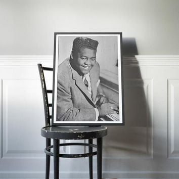 Fats Domino Poster Rock Roll Art Painting Print