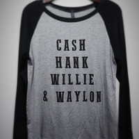 "zzz - ""CASH HANK WILLIE & WAYLON"" LONGSLEEVE GRAPHIC TEE"