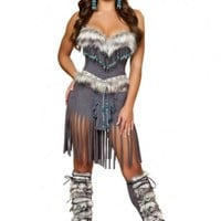 Grey 3pc Indian Hottie @ Amiclubwear costume Online Store,sexy costume,women's costume,christmas costumes,adult christmas costumes,santa claus costumes,fancy dress costumes,halloween costumes,halloween costume ideas,pirate costume,dance costume,costumes