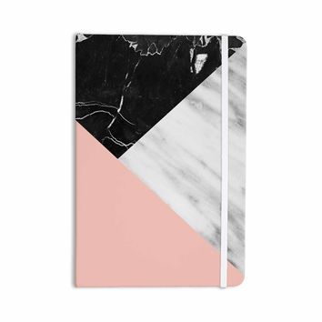 "Cafelab ""Marble Collage With Pale Pink ""  Gray Pink Everything Notebook"