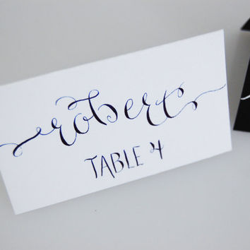 Special Event Place Cards, Custom Calligraphy