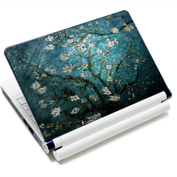 "12.1"" 13.3"" 14"" 14.4"" 15"" 15.4"" 15.6"" Inch Blue Flower Laptop Skins Sticker Cover Decal Protectors for LENOVO/HP/DELL/ACER/asus"