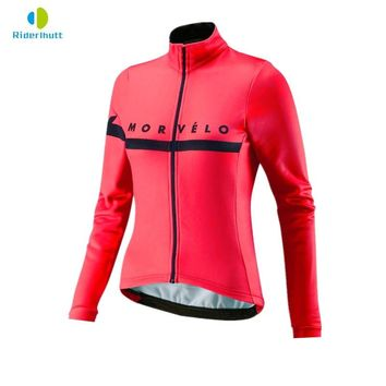 morvelo Women Spring/summer Long Sleeve Bicycle Cycling Jersey Road Mountain bike Shirt Outdoor Sports Bicycle Clothing tops