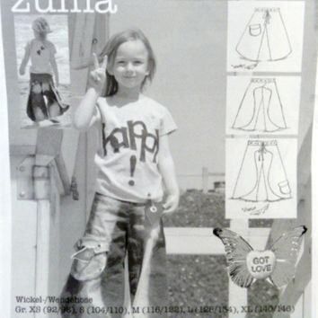 Studio Tantrum Zuma Pattern Wrap Around Reversible Pants Trousers Capris Gauchos Length Variations Sewing Patterns Size XS S M L XL Uncut
