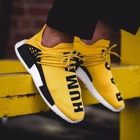 Beauty Ticks Pharrell Williams X Adidas Consortium Nmd Human Race Yellow Sport Run