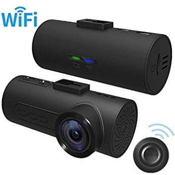 HaloCam C1 FHD 1080P Wifi Connect Car Dash Cam,Super Night Vision Driving Video Recorder,Driver Assistance,G-sensor for Motion Detection,Traffic Accident Disputes (Standard)