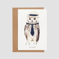 Owl Capone Greetings Card