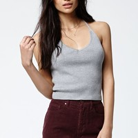 Kendall & Kylie Ribbed V-Neck Tank Top - Womens Sweater