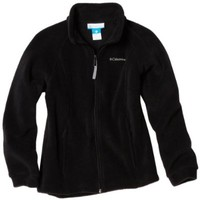 Columbia Big Girls'  Benton Springs Fleece Jacket, Black, Large
