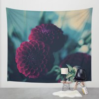 flowers Wall Tapestry by Ingrid Beddoes | Society6