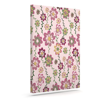 "Nika Martinez ""Romantic Flowers in Pink"" Blush Floral Canvas Art"