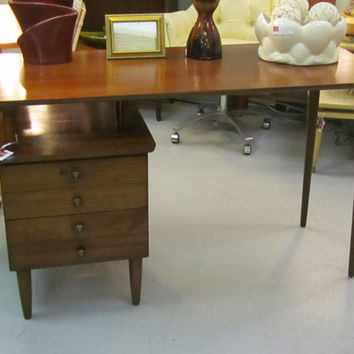 Vintage Mid Century Walnut Floating Desk