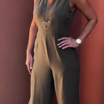 Check it Out Olive Jumpsuit