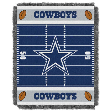 Dallas Cowboys NFL Triple Woven Jacquard Throw (Field Baby Series) (36x48)
