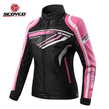 Motorcycle Jackets Women Jerseys Moto Female Clothes CE Protector Waterproof Motobike Motocross Racing Protective Protection