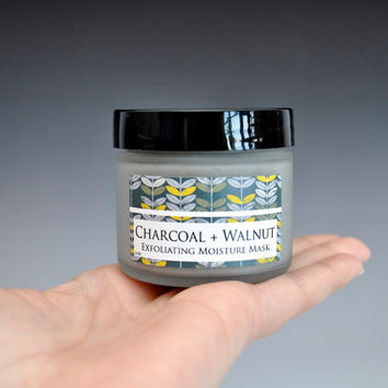Charcoal & Walnut Exfoliating Cream Moisture Mask, Face Mask, Facial Mask, Charcoal Mask, Cream Mask, Face Exfoliator, Exfoliate