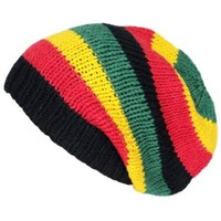 Asian Idyllica Handmade Crochet Knit Beanie One Size Multicoloured Rasta 102