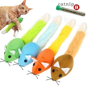 Plush Cat Toy Catnip Soft Pet Toys For Cats Solid Interactive Mice Mouse Toys Cat Supplies Funny Kittens Training Toy Play Games